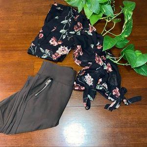 Revamped mesh floral cutout long sleeves top🌸💜